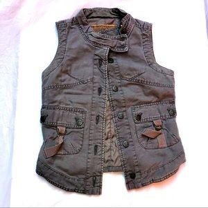 Cargo khaki vest. Women's size x-small